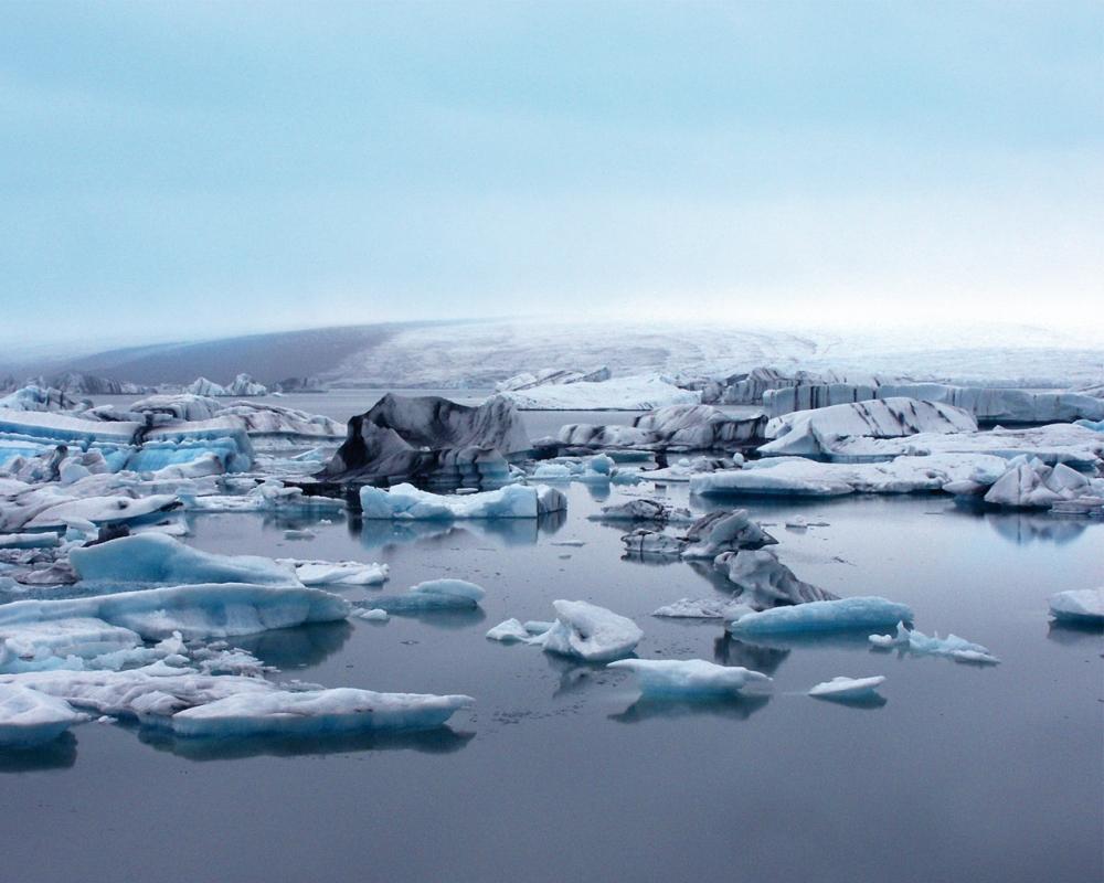Het Jökullsárlón meer in IJsland